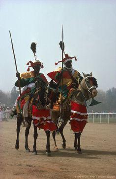 Nigeria, Kaduna, Grand Durbar, African festivals, parades of horsemen.