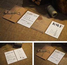 Kraft Wedding Invitation / Rustic Wedding by adrimdesign on Etsy, €5.75