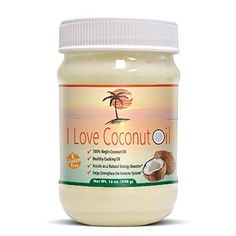 I Love Coconut Oil - 100% Coconut Oil, 16 oz. -- Discover this special deal, click the image : baking desserts recipes