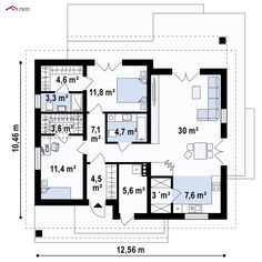 100 M2, Home Projects, House Plans, Floor Plans, How To Plan, Houses, Projects, Blueprints For Homes, Home Layouts