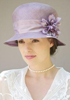 Lavender Lilac Straw Cloche Hat. Wedding Hat Formal by AwardDesign, $96.00