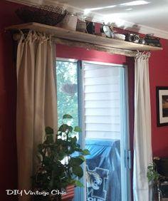 For The Sliding Glass Door In Burlaplike Shelf Above