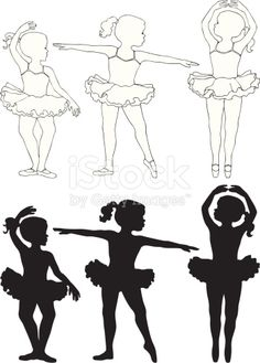 Little girl ballet dancers in silhouette Little Girl Ballet, Ballet Girls, Ballet Dancers, Little Girls, Silhouette Portrait, Silhouette Art, Silhouette Projects, Ballerina Silhouette, Ballerina Art