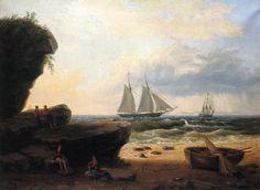 Thomas Birch  -Sailing along the Shore