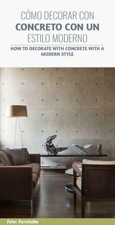 CÓMO DECORAR CON CONCRETO CON UN ESTILO MODERNO - HOW TO DECORATE WITH CONCRETE WITH A MODERN STYLE Minimalist Interior, Minimalist Bedroom, Minimalist Decor, Modern Interior Design, Interior Architecture, Luxury Interior, Eclectic Design, Minimalist Wardrobe, Minimalist Kitchen