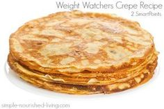 This Weight Watchers crepe recipe is super easy and delicious with no butter or oil, 62 calories, 1 WW Freestyle SmartPoints, 2 PointsPlus each!