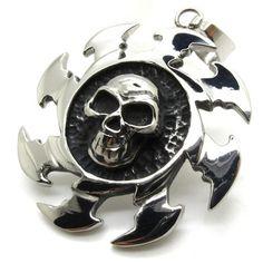 apollo reel blade skull devil medal stainless steel Men's Pendant + Necklace - $79nok (free)