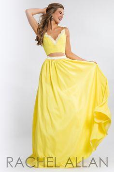 Rachel Allan 7575 Yellow Prom Dress