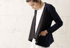 JOINERY - Yayoi Draped Jacket by Crazy Wind - WOMEN