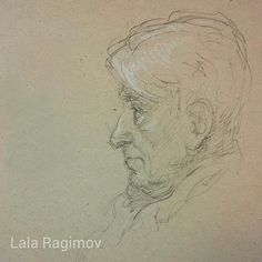 Lala Ragimov Grandfather charcoal charcoal pencil sketch sketchbook classical drawing baroque academic drawing grandpa grandparents drawing art portrait portraitdrawing ritratto рисунок портрет