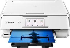 Canon - Pixma TS8120 Wireless All-In-One Printer - White