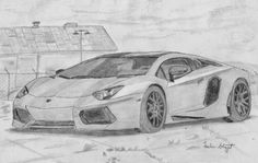 Sachin Bhagat Art: Lamborghini Sketch