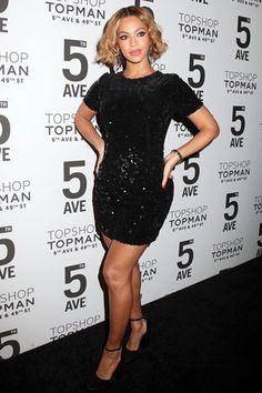 Best dressed: Beyoncé in a Topshop dress