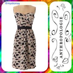 Anthropologie Convertible Abstract Print Dress Xs