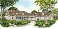 Country Home with Secluded Office - 46056HC | 1st Floor Master Suite, Butler Walk-in Pantry, Corner Lot, Country, Den-Office-Library-Study, Hill Country, PDF, Split Bedrooms, Wrap Around Porch | Architectural Designs