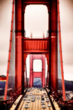 i walked over this bridge in San Fran #ridecolorfully