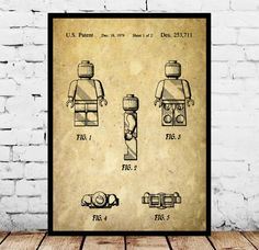 Lego Poster, Lego Patent, Lego Blueprint, Lego Art, Lego Print, Lego Decor, Lego Artwork, Lego kids room Decor, Legoman by STANLEYprintHOUSE  0.79 USD  Lego Poster, Lego Patent, Lego Blueprint, Lego Art, Lego Print, Lego Decor, Lego Artwork, Lego kids room Decor, Legoman  This is a vintage patent print. The Legoman from 1979.  This poster is printed using high quality archival inks, and will be of museum quality. Any of these poster ..  https://www.etsy.com/ca/listing/481477560/leg..