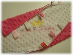 *New* Softies... Baby Tag Blankets   www.sun7designs.com