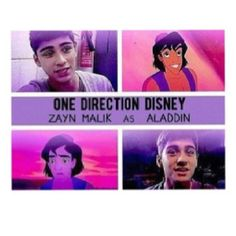 One Direction Disney Zayn Malik as Aladdin LOVE