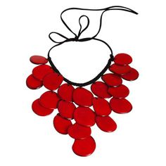 Eco-Friendly Caprichosa Necklace in Red - Hugssy.com