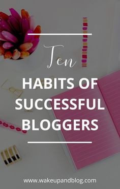 Ten habits of successful bloggers | Click to find out what successful bloggers do every day to make their blog work... #bloggers #bloggingtips How To Start A Blog, How To Find Out, How To Make Money, Online Marketing, Content Marketing, Blogger Tips, Blogger Lifestyle, Make Money Blogging, Blogging Ideas