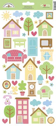 Doodlebug Design - Welcome Home Collection - Cardstock Stickers - Icons at Scrapbook.com