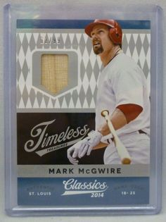 2014 Classics Baseball Mark McGwire Game Used Bat Card Serial #62/99 HR Record # #StLouisCardinals