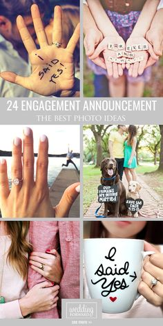 24 Best Ideas Of Engagement Announcements ❤ We propose photo ideas how to make engagement announcements more personal, romantic and fun. See more: http://www.weddingforward.com/engagement-announcements/ #weddings #photos #engagement