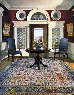1924 Home Interior    From an ad for Whittall Rugs in the November 1924 issue of Good Housekeeping magazine.