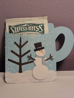 Cricut Hot Chocolate Mug Card. Gypsy Wanderings and George Cartridges. *