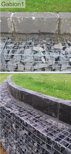 gabion wall with stone capping detail http://www.gabion1.co.nz