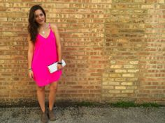 Gorgeous Pink dress #streetstyle