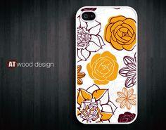 unique iphone 4 case iphone 4s case iphone 4 cover illustration yellow flower graphic iphone  case design. $13.99, via Etsy.