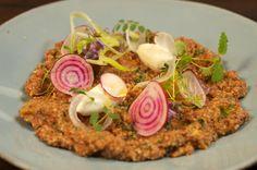 Spiced burghal salad with labna