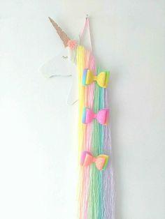 Rainbow unicorn hair bow holder hair clip holder accessory