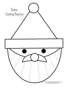 Santa Claus clipping exercise / you can of course also make a Sinterklaas out of it – Knippen Kindergarten Christmas Crafts, Kindergarten Fun, Christmas Activities, Christmas Crafts For Kids, Christmas Colors, Christmas Themes, Kids Christmas, Holiday Crafts, Daycare Crafts