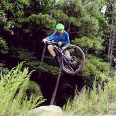 Getting rad on a photoshoot today #mountainbike #bigair