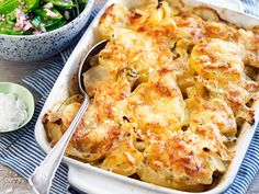 potatis-och-fankalsgratang-recept Cauliflower, Macaroni And Cheese, Food And Drink, Vegetarian, Diet, Vegetables, Ethnic Recipes, Dragon, Mac And Cheese