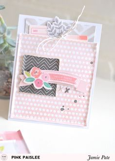 Moms Day Cards + Flowers   @jamiepate for @pinkpaislee. mix bits and pieces to make pocket cards. two examples included.