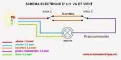 - schémava et vient electrique    - branchement et montage interrupteur va et vient      -câblageet raccordement inter...