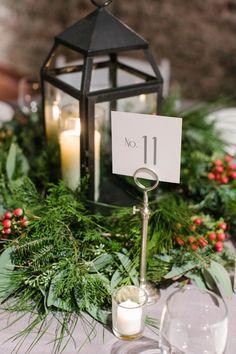 A Gray, Green, & Red Wintery North Carolina Wedding