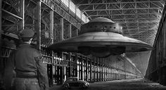 """""""German flying saucer WW2"""" by Cliff Vestergaard ©  In science fiction, conspiracy theory, and underground comic books, stories or claims circulate linking UFOs to Nazi Germany. These German UFO theories describe supposedly successful attempts to develop advanced aircraft or spacecraft prior to and during World War II, and further claim the post-war survival of these craft in secret underground bases in Antarctica, South America or the United States, along with their creators.["""