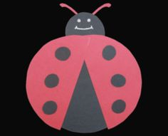 Ladybug Preschool Art Project.  I've done this using paper plates for the wings and added them near the head using brads.