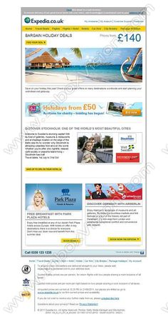 Company:    Expedia.co.uk   Subject:    Our best holiday deals for all budgets…