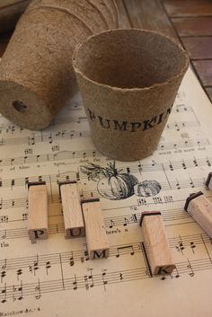 stamp anything on peat pots! How about planting herbs as gifts and stamping their names on them? Inexpensive  and useful gifts!