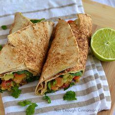 Shrimp Avocado Wrap (by www.notenoughcinnamon.com)