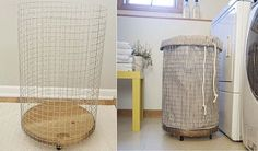 Chic and easy DIY laundry hamper