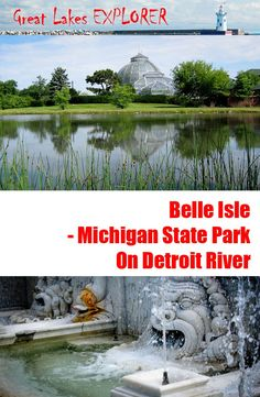 Belle Isle became Michigan's 102nd State Park in 2014. The 982-acre park is located on the island south of Detroit, on Detroit River between the United States and Canada. If you are visiting Detroit, it should be on your 'must-see' list!