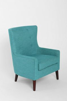 Frankie Chair - Urban Outfitters - Jamie will turn it into a rocker! Turquoise Chair, Turquoise Furniture, Dark Leather Couches, Leather Sofa, Living Room Chairs, Living Room Furniture, Dining Room, Furniture Chairs, Lounge Chairs