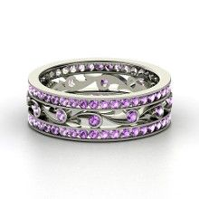 Platinum Ring with Amethyst